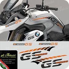 Kit Adesivi Fianco Serbatoio Moto BMW R 1200 gs LC stripes racing becco ORANGE