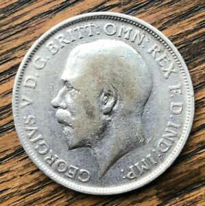 1915 King George V Silver One Florin Coin