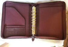 Day-Timer Faux Leather Desk Binder Cordovan Burgundy Uses Franklin Covey Classic