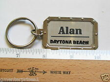 Daytona Beach Keychain Alan Name Key Fob Key Chain  (Name #4)