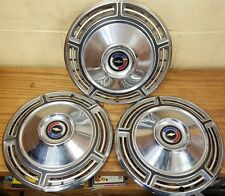 """1968 Chevelle 14 """" Wheel Covers Hubcaps 3020 NOS - Set of 3"""