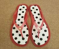 Kate Spade New York Women Pink Polka Dot Rubber Jelly Slides Flip Flops Size 8