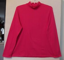 Croft & Barrow Size XXL Bright Pink Mock Turtleneck Knit Top, long sleeves NWT