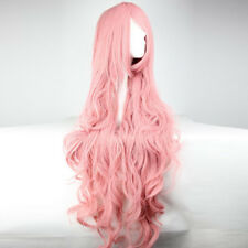 Womens 100cm Long Wavy Curly Hair Synthetic Cosplay Full Wig Wigs Party RU