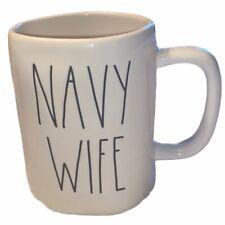 Rae Dunn Navy Wife Coffee Tea Cup Mug NWT