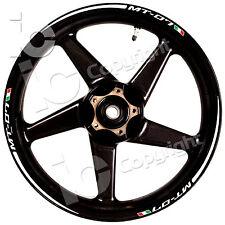 Kit Adesivi Ruote YAMAHA MT 07 Racing Stripes Stickers Wheels Strada Pista