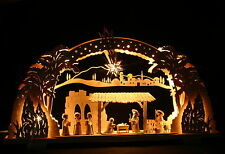 3D-Schwibbogen Stern von Bethlehem mit Ulmik Krippe Christi Geburt Erzgebirge