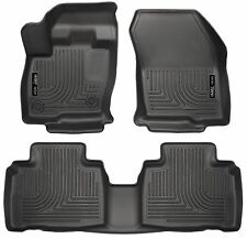 Husky Liners WeatherBeater Floor Mats - 3pc - 98781- Ford Edge 2015-2017 - Black