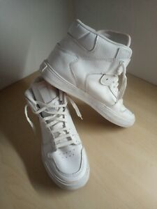 Mens Supra Vaider White Leather Hi Top Trainers Size UK 7 EU 41