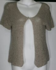 Eileen Fisher Shrug Sweater One-Button Textured Petite Small PS Short Sleeve
