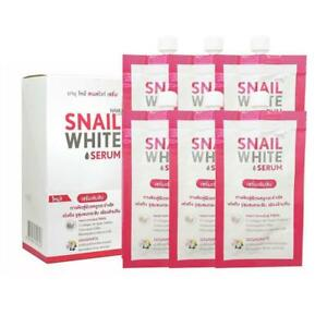 6x7ml. Snail White Serum Collagen Elastin Firm Smooth And Reduce Wrinkle
