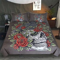 The Skeleton Flower Single/Double/Queen/King Bed Quilt Doona Duvet Cover Set