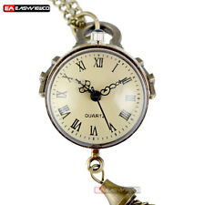 Antique Big Ball Eye Necklace Pendant Quartz Gift Pocket Watch Vintage Steampunk