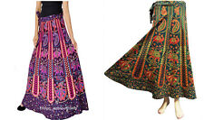Long Skirt Wrap Around Skirt Set of 2 Women Ethnic Floral Rapron Print Cotton