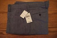 NWT MEN'S LUCKY BRAND PANTS Multiple Sizes Flat Front Navy Blue Woven $149