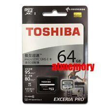 Toshiba Exceria Pro 64GB Micro SD SDXC Card 95MB/s R 80MB/s W UHS-I 4K Class10