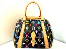 Authentic LOUIS VUITTON Monogram Multicolore Priscilla M40097 Noir Handbag