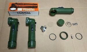 GENUINE British Military Right Angle Torch & USED Spares / Filter Kit etc