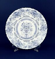 Arcopal France Dinner/Decorative Plates Blue on White French Country Set of 4