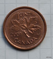 Canada 2001 Canadian One 1 Cent Penny Coin circulated