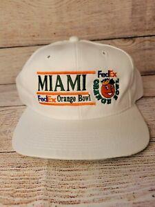 Vintage Miami Hurricanes 1992 Orange Bowl National Champs Snapback Hat