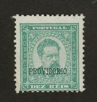 Portugal stamp #80, MH, 1892,  overprint type b, A22, King Luis, SCV $16