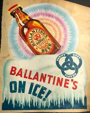 New listing 30's Ballantine Beer Steinie Bottle Sign Rare Diecut Art Deco Newark New Jersey