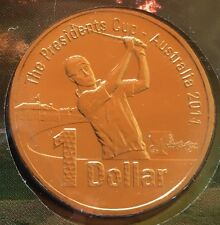 AUSTRALIAN $1 Coin & Stamp PNC 2011 Golf Presidents Cup Uncirculated Melbourne