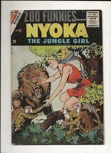 ZOO FUNNIES #12 1955 CHARLTON GOLDEN AGE JUNGLE NYOKA THE JUNGLE GIRL VG