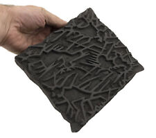 Grand Tampon ancien en bois Bunta impression Tissus Batik 19cm Inde 8060 GB