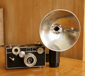 ARGUS C3 Vintage Film Camera 1950's Rangefinder w/ flash