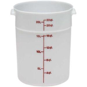 Cambro RFSCW2135 Round Storage Container, 22 Quart Capacity, Translucent