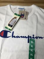 CHAMPION LIFE WOMEN'S TEE T Shirt - WHITE - XL NEW EMBROIDERED
