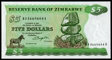ZIMBABWE 5 DOLLARS 1980 UNC RARE P-2a (Q-017)
