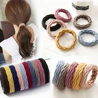 5Pcs Women Elastic Rubber Hair Ties Band Scrunchies Rope Rings Ponytail Holder
