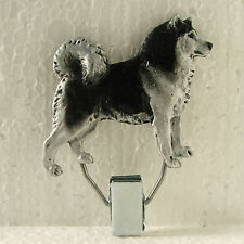 Alaskan Malamute Black White Show Ring Clip Dog Breed Jewellery Resin