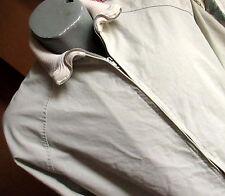 M True Vtg 70s Classic Sand Knit Collar Zip Golf Jacket mens Medium