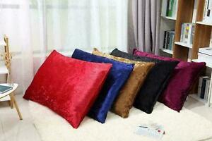 New Luxury Crushed Velvet Dog Bed Shimmer Cushion Cover Pet Puppy Floor Bed