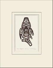 Haida artist BILL REID Embossed COPPER QQAAXHADA Dogfish matted art print