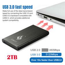 USB 3.0 2TB Portable External Hard Drive Ultra Slim For Laptop PC External Hard