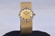 Vintage Baume & Mercier SOLID 18K Gold Ladies Swiss Watch Diamond Sapphire NICE!