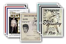 ELVIS PRESLEY - 10 PROMOCIONAL Pósters - Coleccionable Tarjeta Postal Juego #1