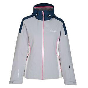 Female ski jacket and winter coat. Dare2B. Contrive. Silver. DWP385. Size 12