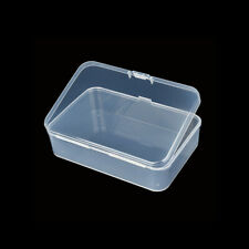 5Pcs Small Plastic Clear Transparent Container Case Storage Box Organizer Tool L
