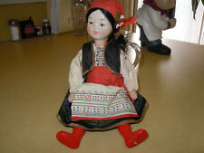 """VINTAGE RUSSIAN DOLL - ALL ORIGINAL WITH MAKERS TAG - PLASTIC - 12"""" - SEE PHOTOS"""