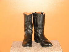 Mens TEXAS Boot Co Black Leather Western Cowboy Boots Size 13 D
