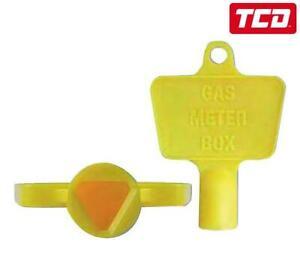 Yellow Plastic Gas Meter Box Key - Single Meter Key