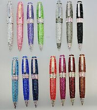 Crystallized Pens Large Classy made w/ Genuine Swarovski Crystals Ballpoint Pens