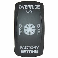 MCS Fan Override Over Ride Rocker Switch Kit With Alarm For Polaris RZR Turbo