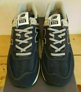 Size 11.5 New Balance 574 mens navy blue sports gym trainers / EU 46.5 sneakers
